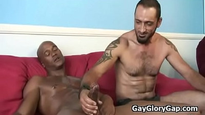 Interracial blowbang Nasty Gay Gloryhole Video And Nasty Handjobs 18
