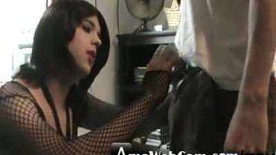A country crossdresser sucks a nice CL cock gay