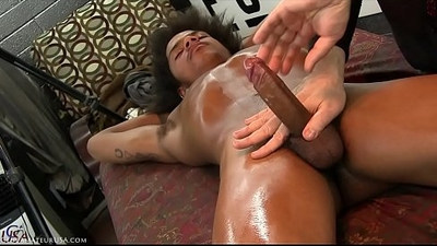 As my finger slid into Riyazs hole, his cock got rock hard