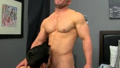 First porn casting boy male gay soft Brock Landon is thinking dinner