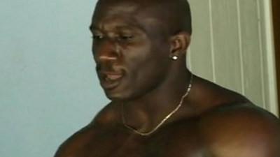 Ebony thugs in hot anal gay threesome