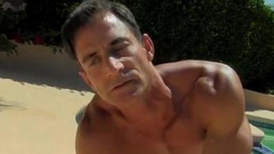 Hot gay sex Daddy Poolside Prick Loving