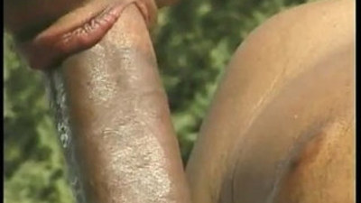 Monstrous black cock sizzling hot outdoor pounding encounter
