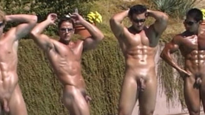 Naked Hard Muscle Jocks Stroking