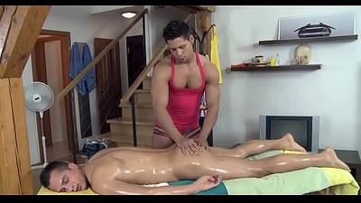 Homosexual bare male massage